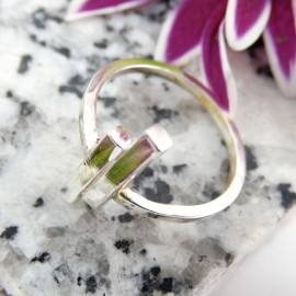Sterling silver ring Straight On