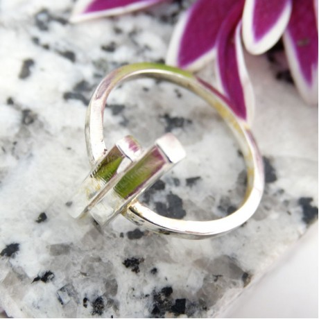 Sterling silver ring Straight On, Bijuterii de argint lucrate manual, handmade