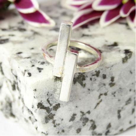 Sterling silver ring Upstream, Bijuterii de argint lucrate manual, handmade