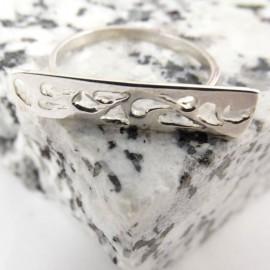 Sterling silver ring Takeoff, Bijuterii de argint lucrate manual, handmade