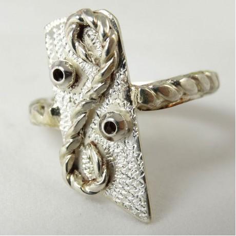 Sterling silver ring Show of Glow, Bijuterii de argint lucrate manual, handmade