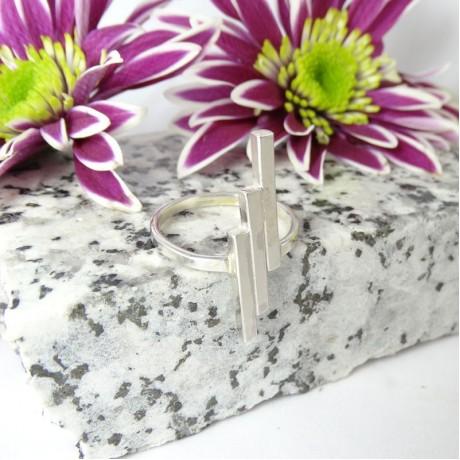 Sterling silver ring Message, Bijuterii de argint lucrate manual, handmade