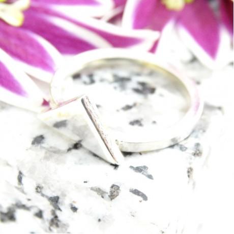 Sterling silver ring Tria, Bijuterii de argint lucrate manual, handmade