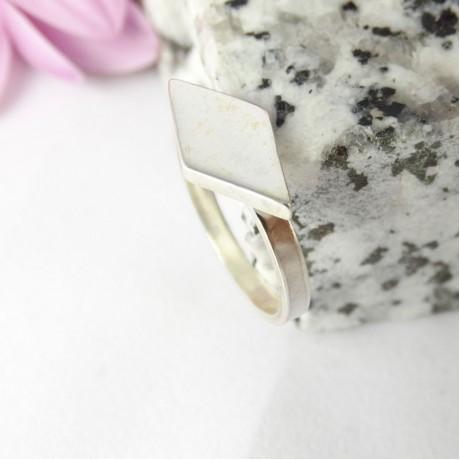 Sterling silver ring Diam, Bijuterii de argint lucrate manual, handmade