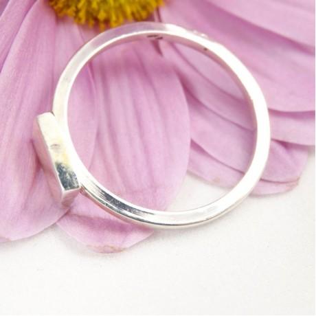 Sterling silver ring Casual A, Bijuterii de argint lucrate manual, handmade