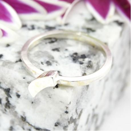 Sterling silver ring Casual B, Bijuterii de argint lucrate manual, handmade