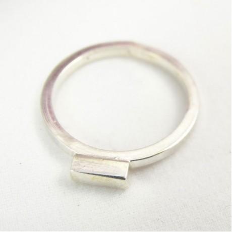 Sterling silver ring Casual C, Bijuterii de argint lucrate manual, handmade