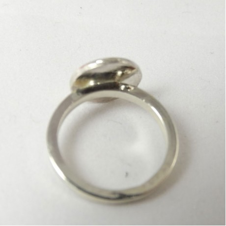 Sterling silver ring Casual E, Bijuterii de argint lucrate manual, handmade