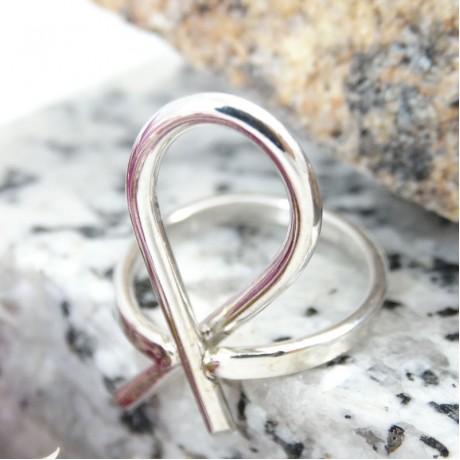Sterling silver ring Assertive, Bijuterii de argint lucrate manual, handmade