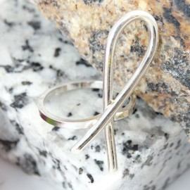 Sterling silver ring Bold