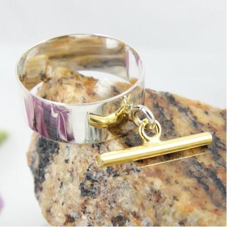 Sterling silver ring Chic Rub, Bijuterii de argint lucrate manual, handmade