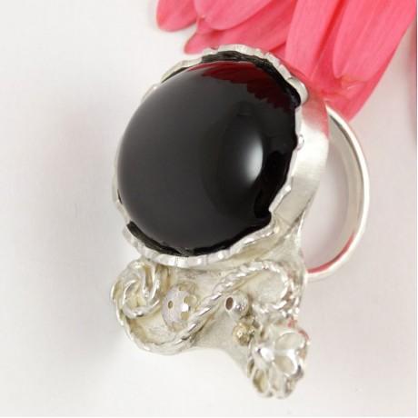 Lovetique Chalcedony Treasure Ring, Bijuterii de argint lucrate manual, handmade