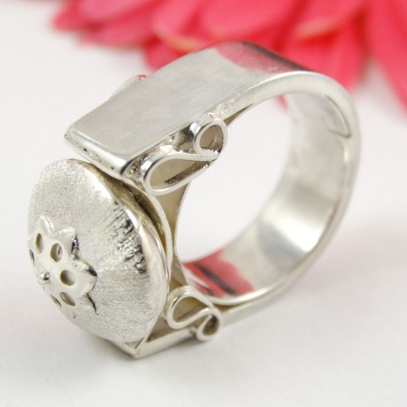 Sterling silver ring Transgression, Bijuterii de argint lucrate manual, handmade