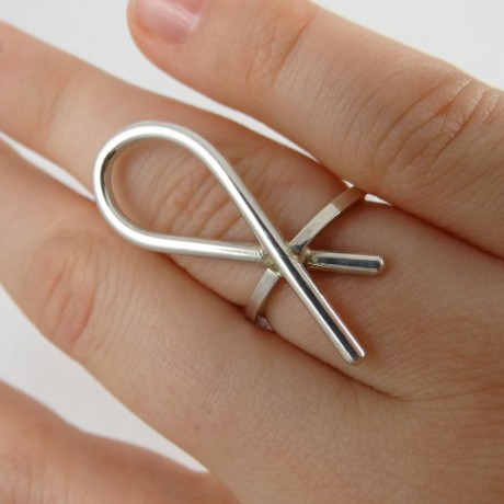 Sterling silver ring Fine Joints, Bijuterii de argint lucrate manual, handmade