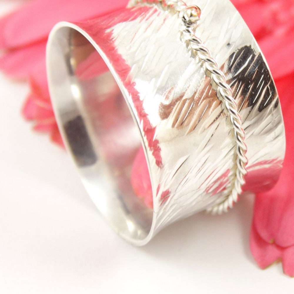 Sterling silver ring Silken Touch