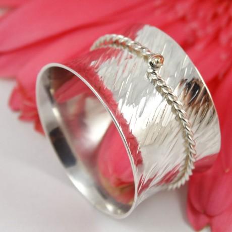 Sterling silver ring Silken Touch, Bijuterii de argint lucrate manual, handmade