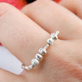 Sterling silver ring Knit