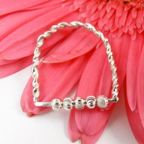 Sterling silver ring Knit, Bijuterii de argint lucrate manual, handmade