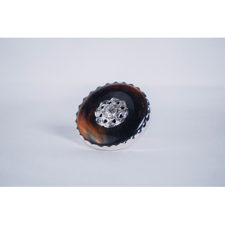 Sterling silver ring with tiger's eye, Bijuterii de argint lucrate manual, handmade
