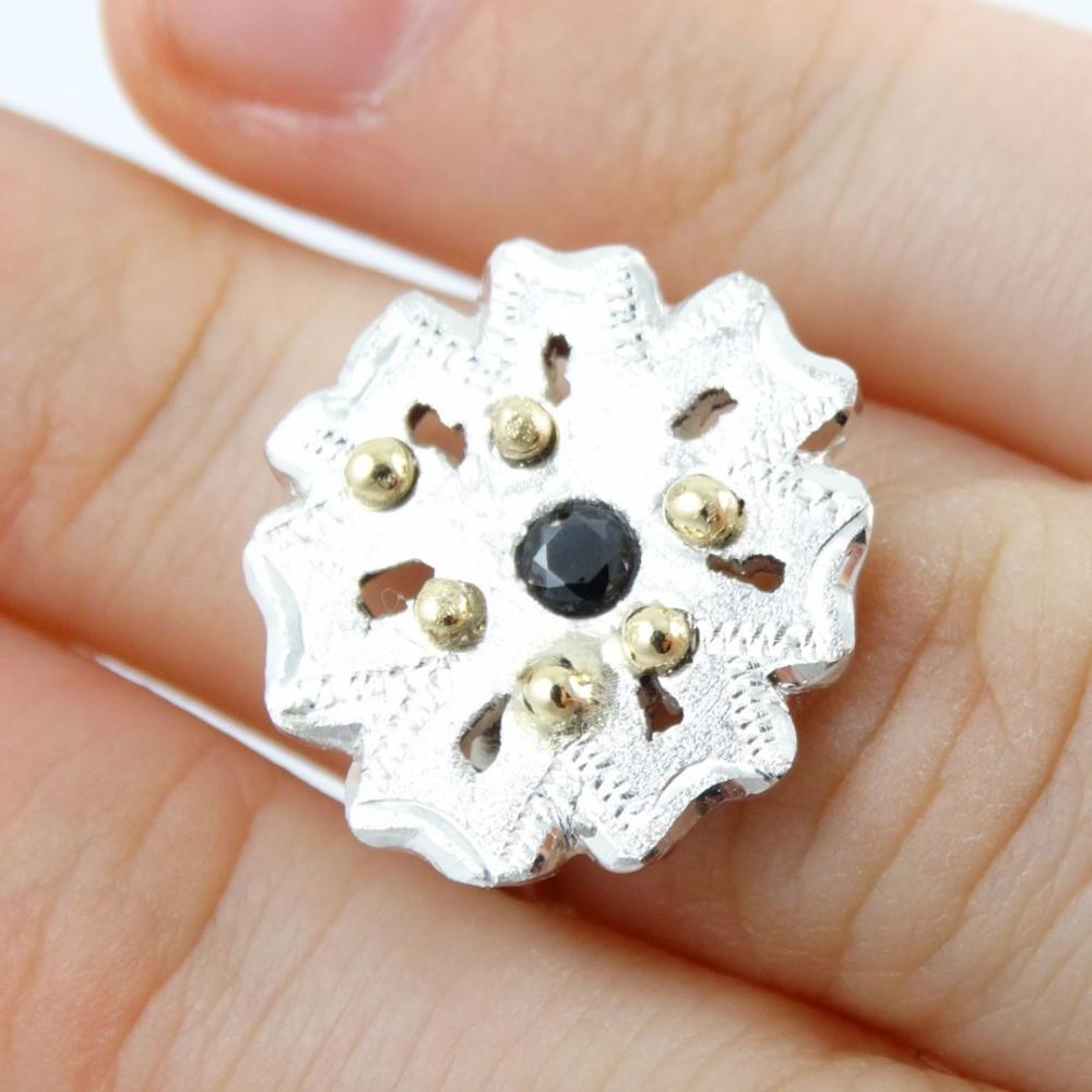 Sterling silver ring Gardenia