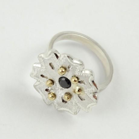 Sterling silver ring Gardenia, Bijuterii de argint lucrate manual, handmade