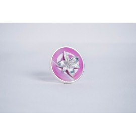 Sterling silver ring with pink agate