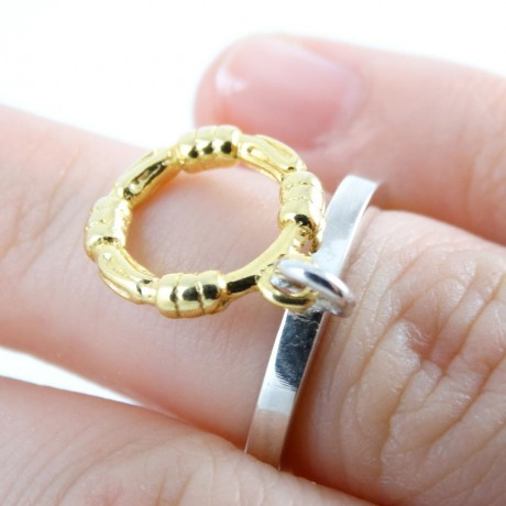 Sterling silver ring Cling, Bijuterii de argint lucrate manual, handmade