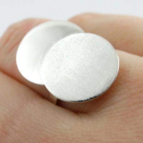 Sterling silver ring Kiss, Bijuterii de argint lucrate manual, handmade