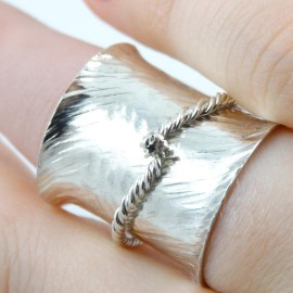 Sterling silver ring Embrace