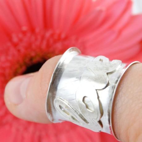 Sterling silver ring Intro, Bijuterii de argint lucrate manual, handmade
