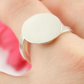 Sterling silver ring Crisscross
