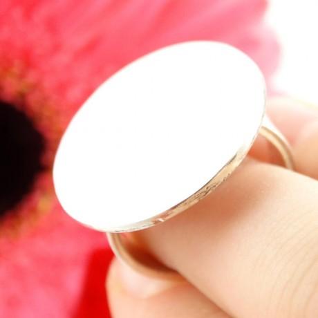 Sterling silver ring Gear Up, Bijuterii de argint lucrate manual, handmade