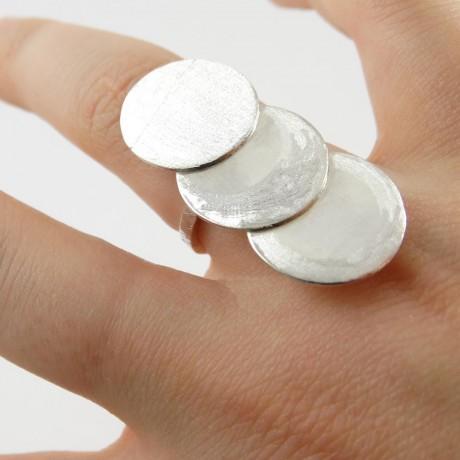 Sterling silver ring Cassie, Bijuterii de argint lucrate manual, handmade