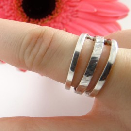 Sterling silver ring Bridges
