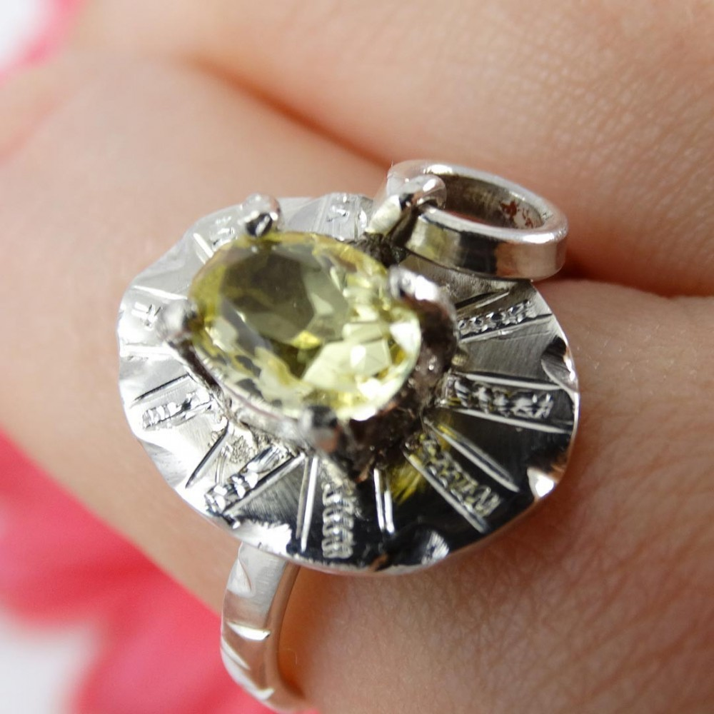 Sterling silver ring Love Babe