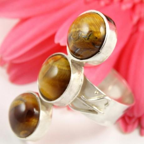 Sterling silver ring Thrice, Bijuterii de argint lucrate manual, handmade
