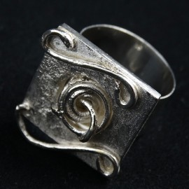 Sterling silver ring Square