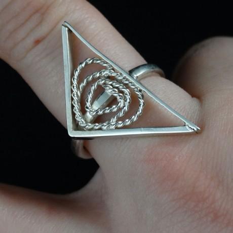 Sterling silver ring Pointed, Bijuterii de argint lucrate manual, handmade