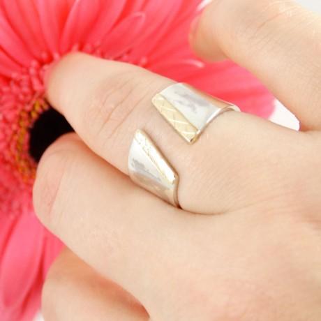 Sterling silver engagement ring Young Blend, Bijuterii de argint lucrate manual, handmade