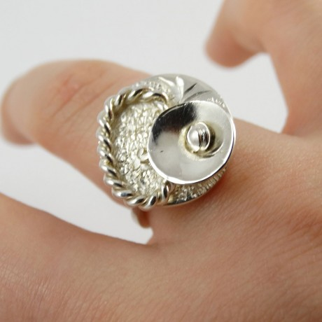 Sterling silver ring Cup of Tenders, Bijuterii de argint lucrate manual, handmade