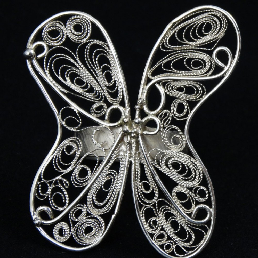 Unique Pure silver jewel Metissage auratique