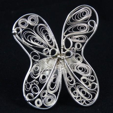 Unique Pure silver jewel Metissage auratique, Bijuterii de argint lucrate manual, handmade