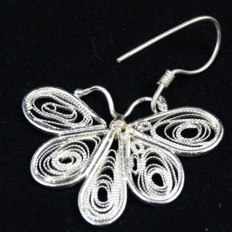 Cercei UNICAT  Flower Fusion, Bijuterii de argint lucrate manual, handmade