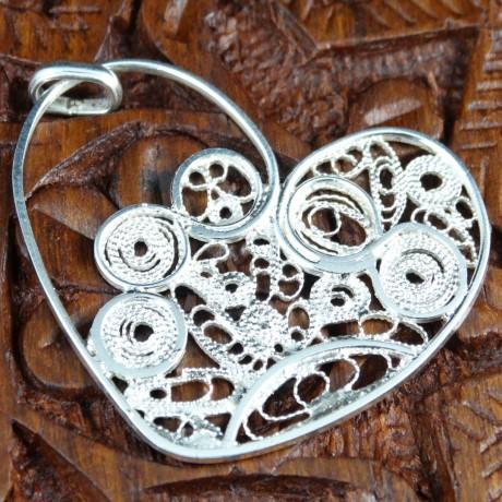Hearty Feast pendant, Bijuterii de argint lucrate manual, handmade