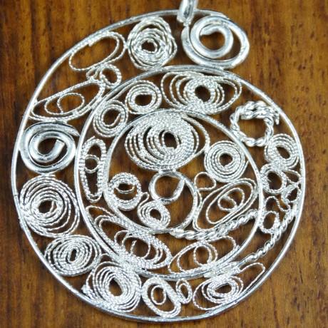 Love Spiral pendant, Bijuterii de argint lucrate manual, handmade