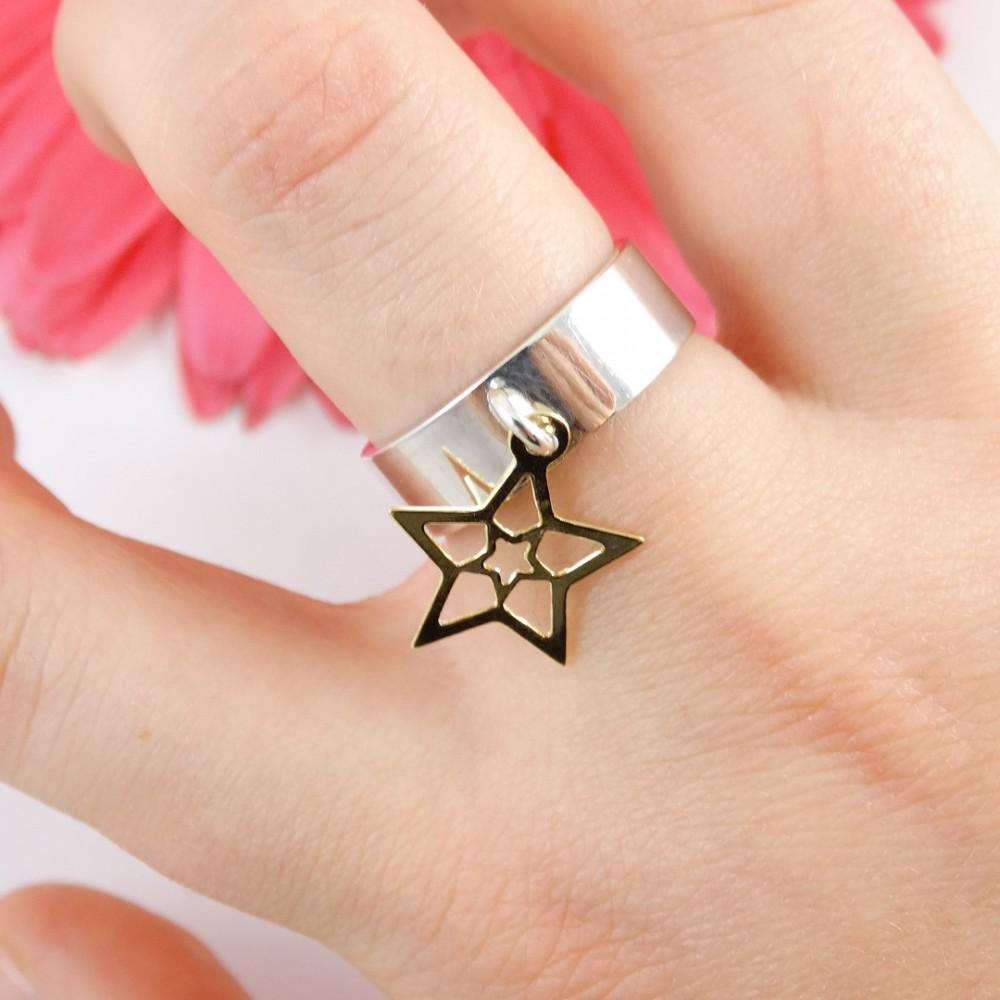 Sterling silver ring Templar