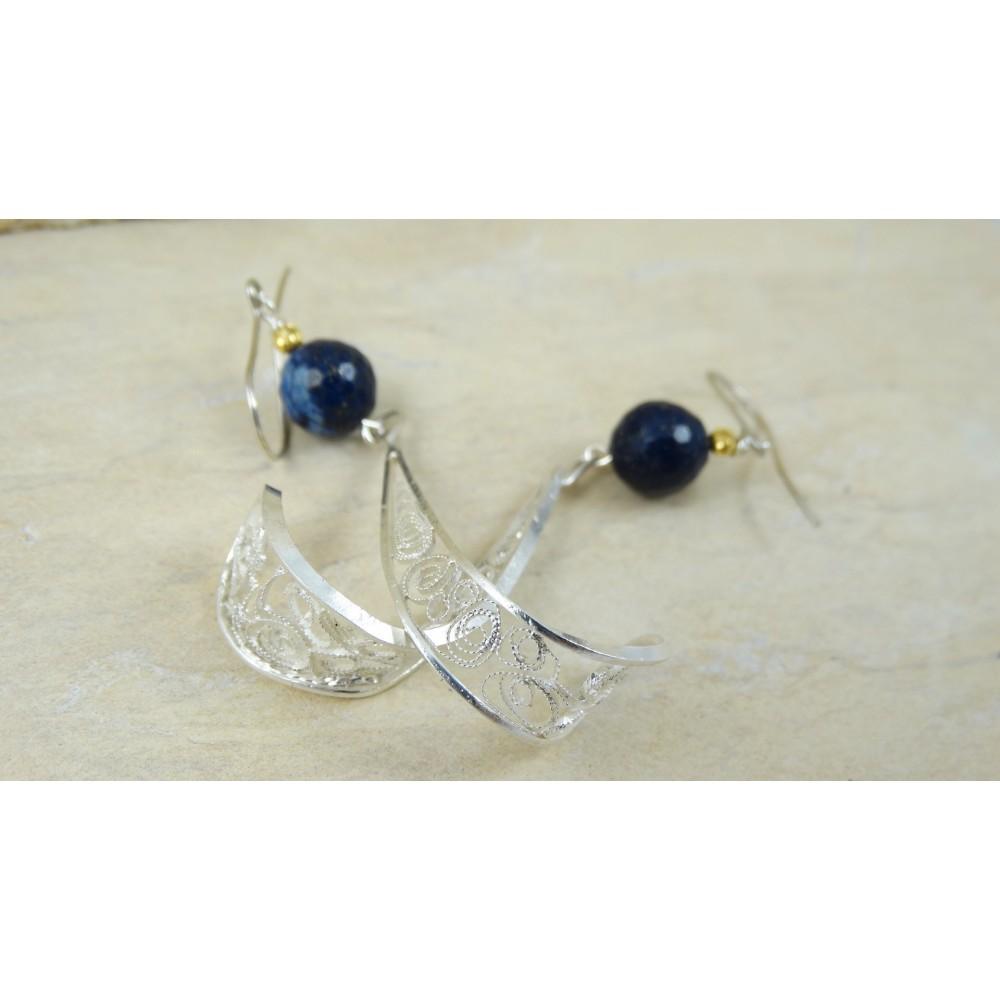 Sterling silver earrings with filigree SILVA REEA
