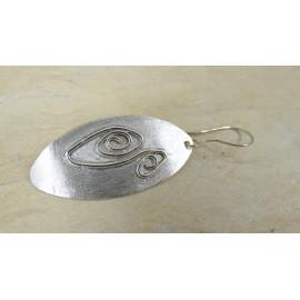 Sterling silver earrings Feathers Lara