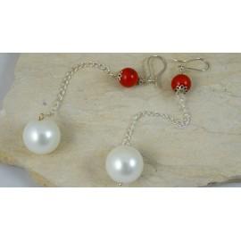 Sterling silver earrings Love Duet