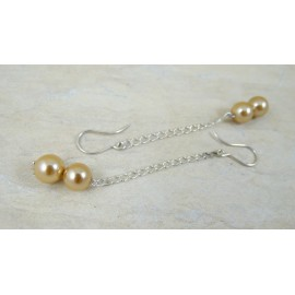 Sterling silver earrings Little Pearls